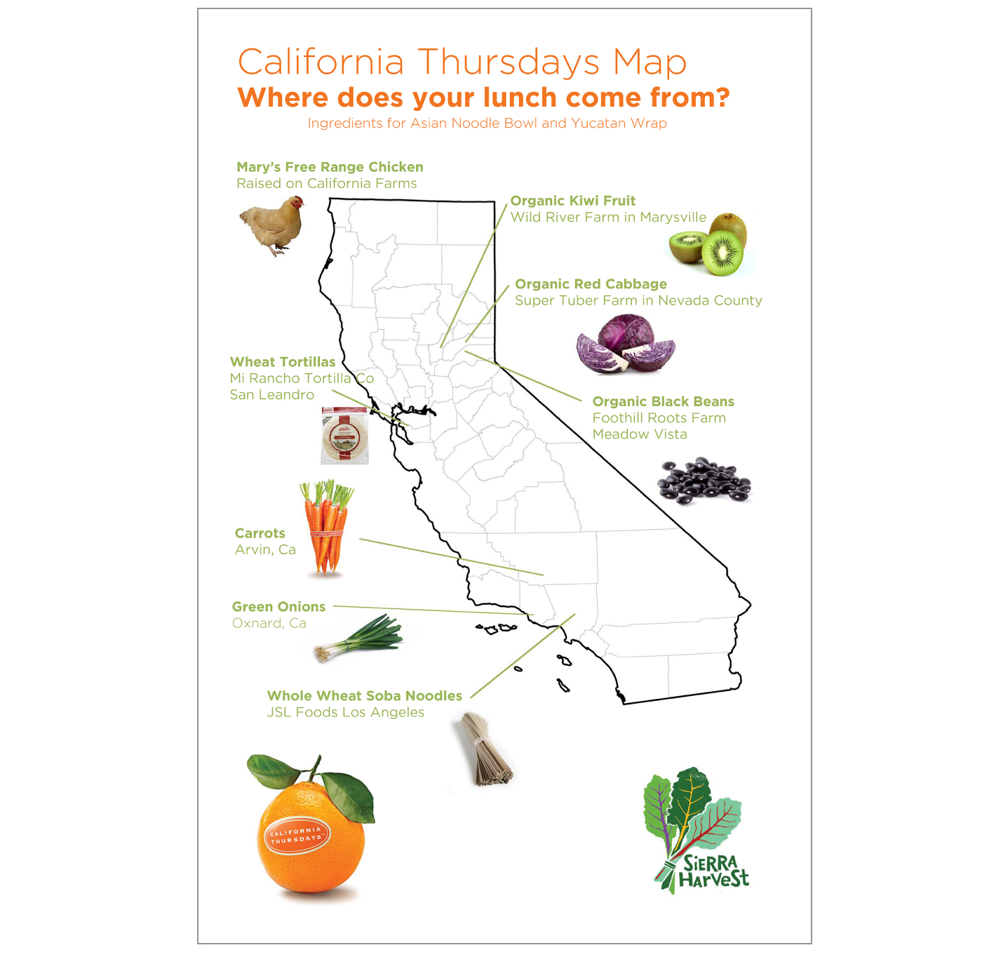 California Poster Map